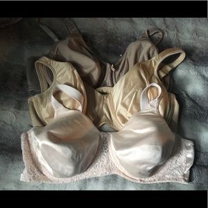 PLAYTEX SECRETS lot of 3  underwire lined bras 44C